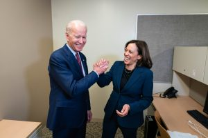 Kamala Harris with Joe biden after she becomes Democrats presidential running mate  5ominds 5ominds