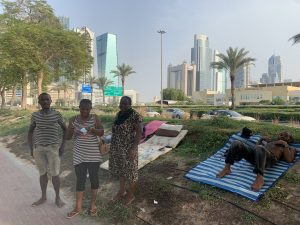 Stranded Nigerians sleeping at the open park in Dubai 5ominds 5ominds