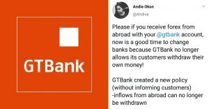 GTbank New Dollar Policy Anger Nigerians 5ominds 5ominds