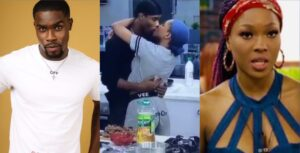 BBNaija: Moment Neo and Vee locked lips after successfully playing the other housemates (Video) 5ominds 5ominds