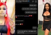 BBNaija: Bobrisky sends ₦1 Million to Erica, promises her an all-expense paid trip to Dubai (Video)