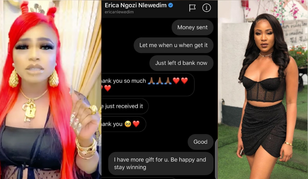 BBNaija: Bobrisky sends ₦1 Million to Erica, promises her an all-expense paid trip to Dubai (Video) 5ominds