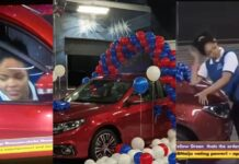 #BBNaija: Moment Nengi jumped into the front sit after Ozo won a 2020 Innoson Caris whip (Video)