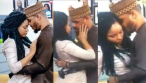 BBNaija: Embarrassing moment Nengi curved Ozo's kiss as he got evicted from the house (Video) 5ominds 5ominds