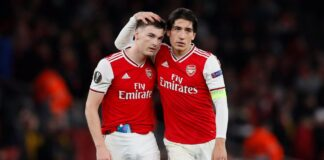 Bellerin post Tierney inspired haircut