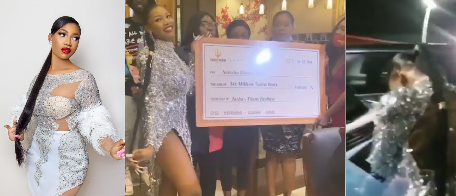 BBNaija Star Tacha gets N6 million, delivery bus and 3 dispatch bikes as birthday gifts from fans (Video) bbnaija star tacha gets n6 million, delivery bus and 3 dispatch bikes as birthday gifts from fans (video) - Screenshot 20201224 070918 - BBNaija Star Tacha gets N6 million, delivery bus and 3 dispatch bikes as birthday gifts from fans (Video)