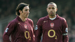 Roberto Pires and Thierry Henry alexandre lacazette - 20210411 213640 300x169 - EPL: Lacazette joins Henry, Others on Arsenal elite Scoring list following Sheffield United brace